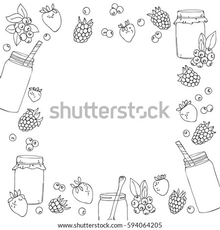 Strawberry Paper Strawberry Border Stock Images, Royalty