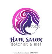 hair salon logo stock royalty-free