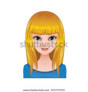 straight hair stock royalty-free
