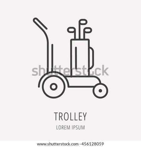 Logo Label Golf Line Style Logotype Stock Vector 567022108