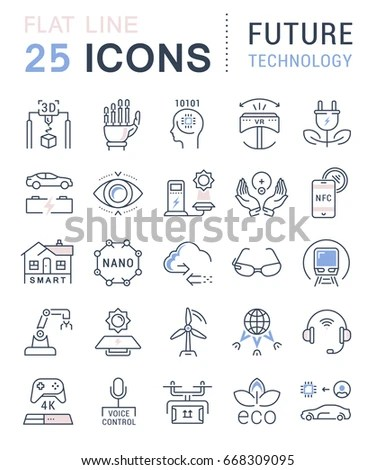 Smart City Vector Icons Symbols Flat Stock Vector