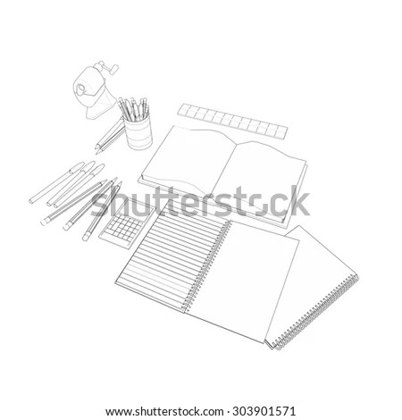 Retail Box Blueprint Template Stock Vector 407581996