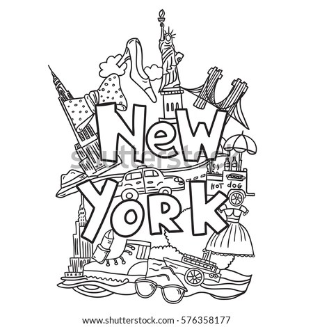 Statue Of Liberty In New York Coloring Page