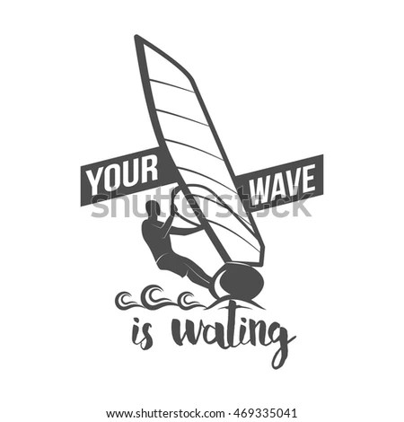 Set Vintage Surfing Logotypes Badges Quotes Stock Vector