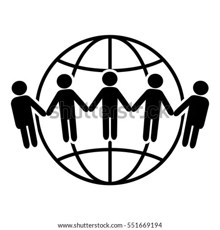 Earth Icon Communication Around World Concept Stock Vector