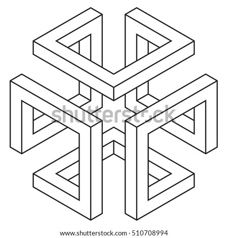 Isometric Figure Space Geometry Vector Illustration Stock