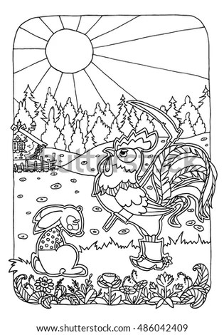 Russian Fairy Tale Pages Coloring Pages