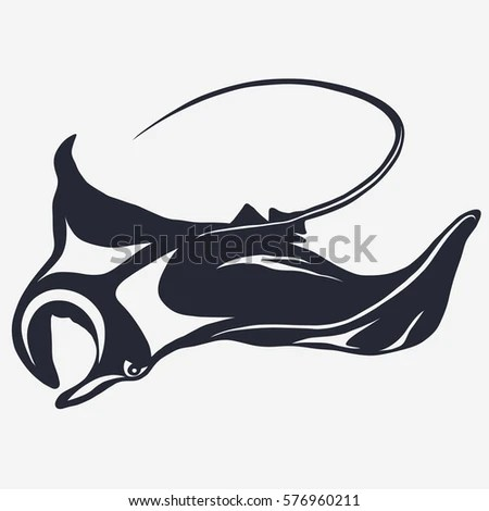 Ray Fish Isolated Stock Vectors Images Amp Vector Art