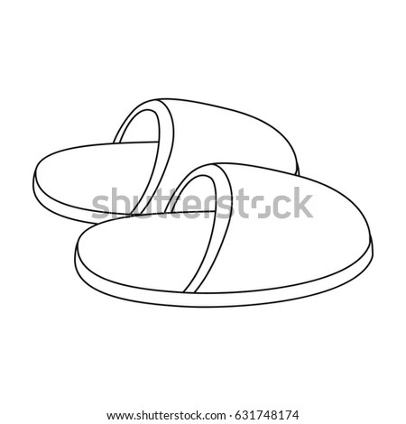 Slippers Age Single Icon Outline Style Stock Vector