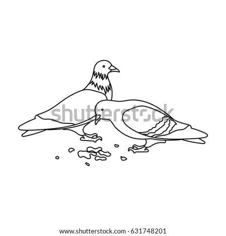 Vector Hand Drawn Flying Seagull Line Stock Vector