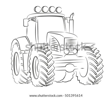 Tractor Snow Blowers Coloring Pages