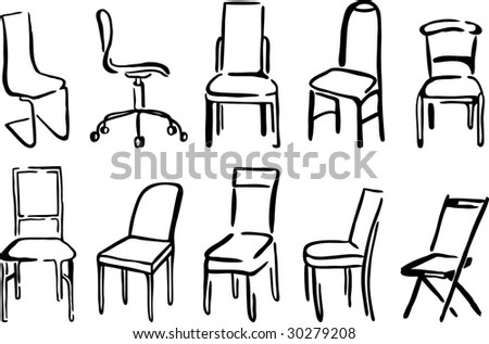 Sketch Chairs Stools Stock Images, Royalty-Free Images