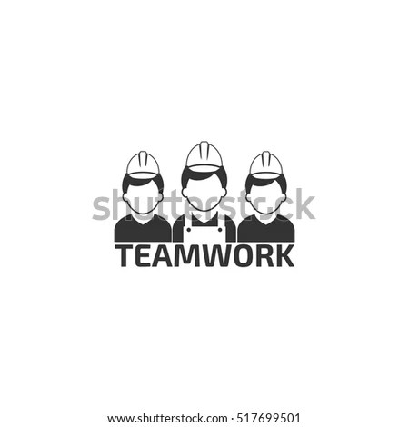 Construct Building Logo On White Background เวกเตอร์สต็อก