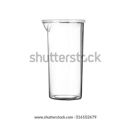 Isolated Chemical Beaker Funnel Solution On Stock Photo