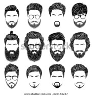 set mens hairstyles beards mustaches