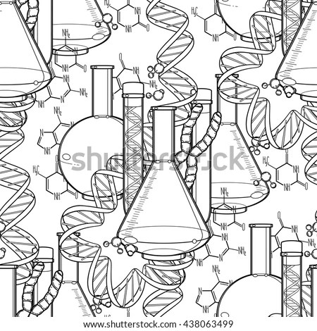 Graphic Dna Structure Isolated On White Stock Vector