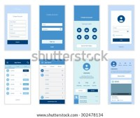 Mobile Screens User Interface Kit Modern Stock Vector ...