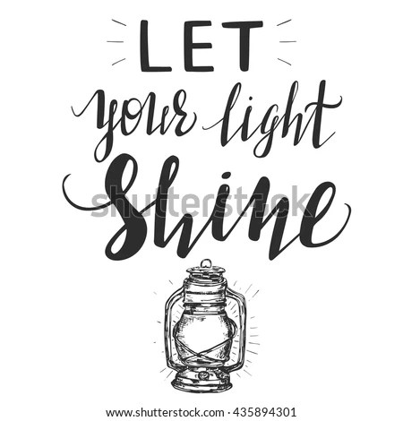 Let Your Light Shine Inspirational Poster Stock Vector