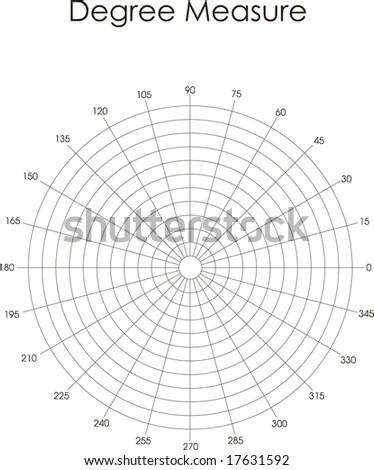 Blank Polar Graph Paper Protractor Pie Stock Vector