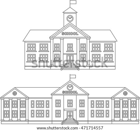 Coloring Pages Set Different Silhouettes Detailed Stock