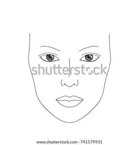 Make Chart Face Chart Realistic Female Stock Vector