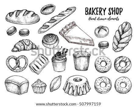 Pastry Sketch Stock Images, Royalty-Free Images & Vectors