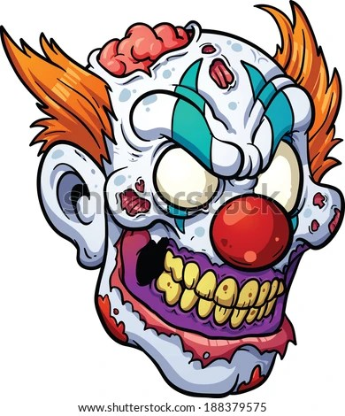 evil clown stock