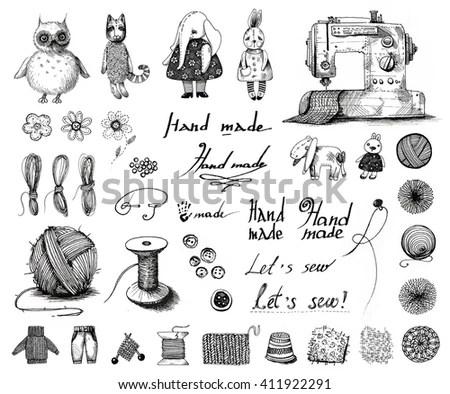 Set School Bookmarks Vector Illustration Student Stock