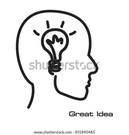 Brainstorm Creative Collective Thinking Idea Man Stock