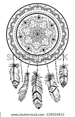 Hand Drawn Native American Indian Talisman Stock Vector