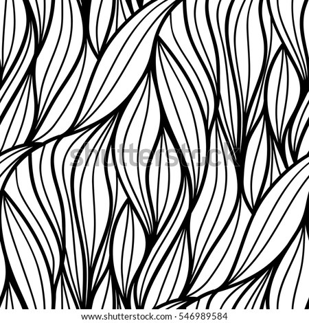 Abstract Vector Seamless Floral Background Doodle Stock