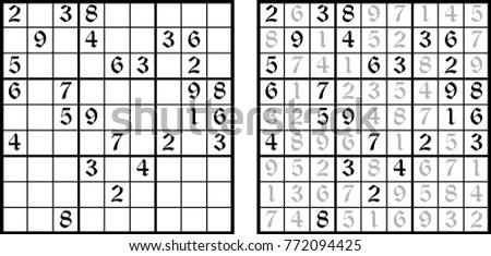 Sudoku Answers Stock Images, Royalty-Free Images & Vectors