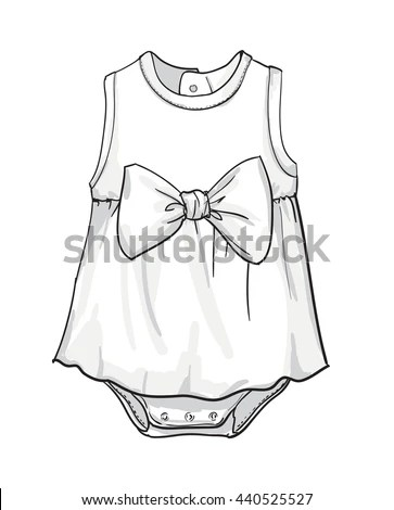 Baby Fashion Baby Clothing Vector Illustration เวกเตอร์