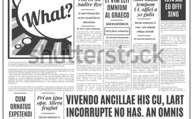 Old Newspaper Vintage Design Retro Vertical Stock Vector