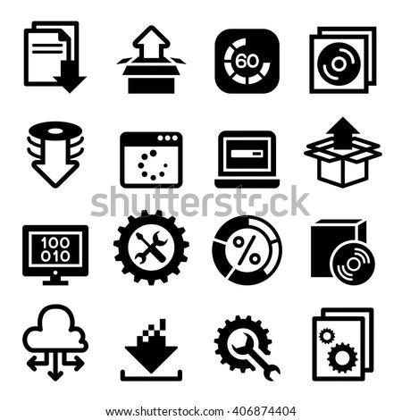 Setup Configuration Maintenance Installation Icon Software