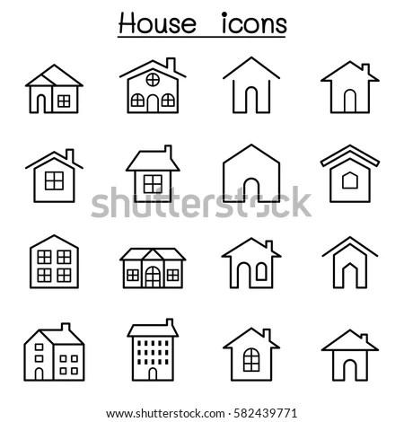 List of Synonyms and Antonyms of the Word: house icon set