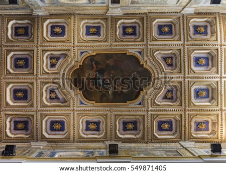 Coffered Ceiling Stock Images, Royalty