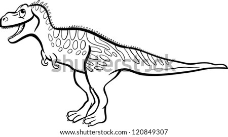Cartoon Illustration Tarbosaurus Dinosaur Prehistoric