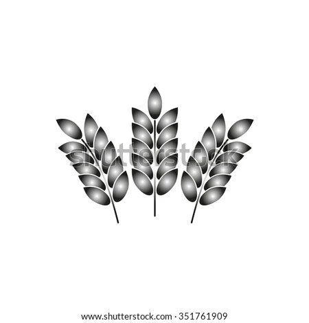 Isolated Wheat Ear After Harvest Stock Vector 73010224