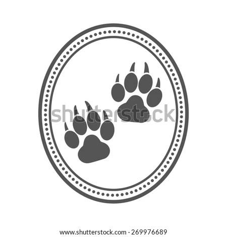 Dog Pet Logo Paw Prints Design Stock Vector 269976686
