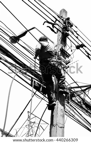 Lineman Silhouette Stock Images, Royalty-Free Images