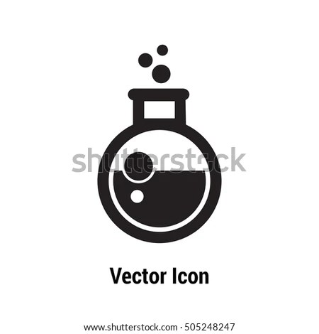 Testtube Laboratory Glass Vector Icon Potion Stock Vector
