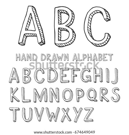 Sketch Alphabet Stock Images, Royalty-Free Images
