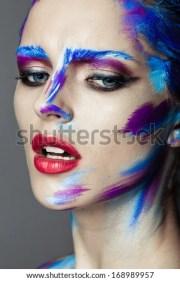 creative art makeup young girl