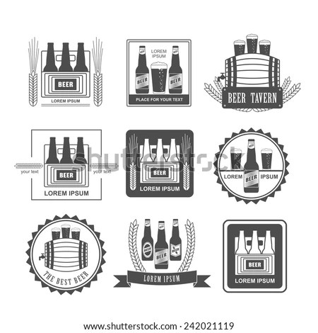 Vector Beer Infographics Illustrations Brewery Process