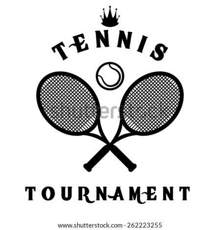 Vintage Tennis Sport Stamp Stock Vector 135556388