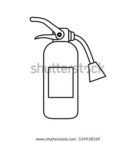 Quirky Drawing Fire Extinguisher Stock Vector 52366687