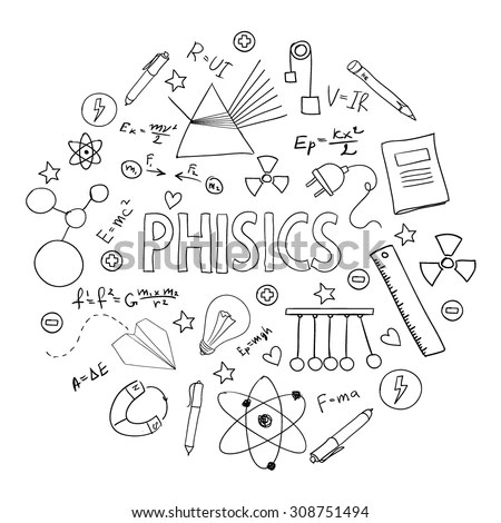 Hand Drawn Vector Set School Equipment Stock Vector