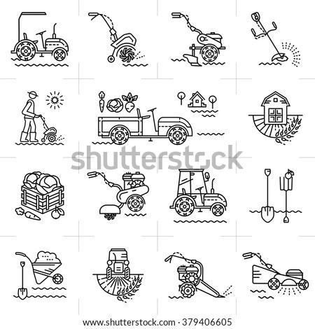 Farmer Tractor Stock Vectors, Images & Vector Art