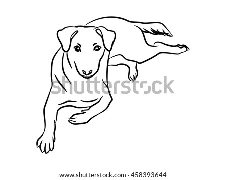 Black Easy Ink Line Drawing One Stock Vector 458393644